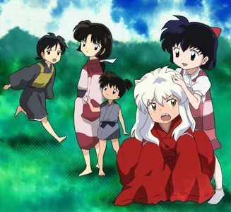 Inuyasha and the gang when they were kids!! :)