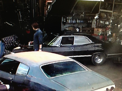 Here is a shot of Sam and Dean with the car in Mannequin 3, which appears to be a 4 Door Impala.