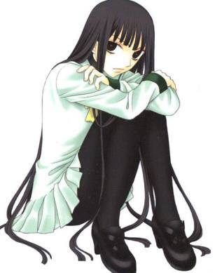 I would like mine to be long,black and straight like Rin from fruits basket (I have black hair but it short tho ;___;)