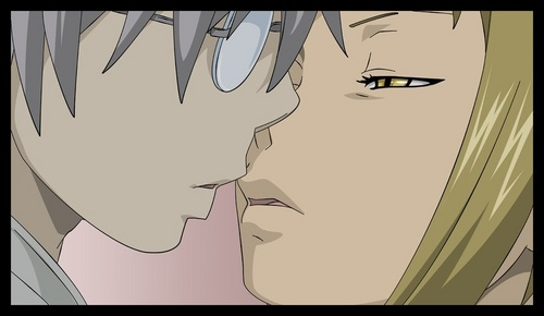Man, my rosario vampire break is too long. Medusa and stein about kiss... And junk.