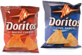 I have my own bag of doritos, oh I'm sorry, make that two.