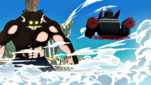 Master Makarov can get epically angry in Fairy Tail.