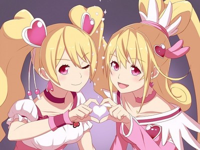 Mana from DokiDoki Precure and Любовь from fresh Precure :3