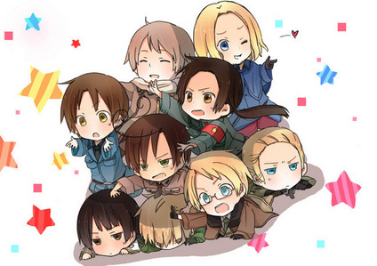 Hetalia. c: I didn't really get what i was watching at first, but i continued to watch it and now i absolutely Любовь it. x3