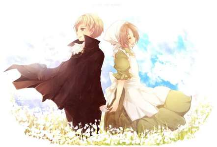 Holy Roman Empire and Chibitalia In my opinion it's the cutest pairing in Hetalia. And I am going to throw a brick at Hidekaz face if it turns out HRE and Germany are different people. I have so many pairings outside of Hetalia, but I still find this adorable!