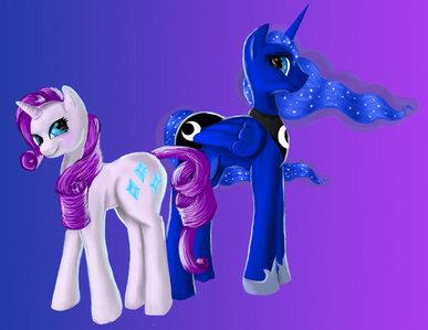 Rarity and Princess Luna.