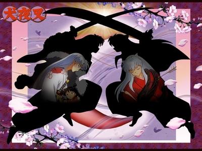 Inuyasha vs. Sesshomaru (brother vs. brother)