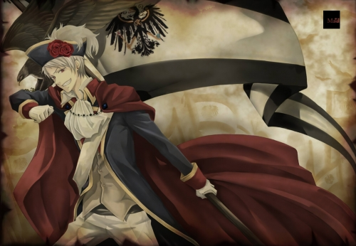 Probably Prussia, cause he's awesome. 'Nuff said. :D
