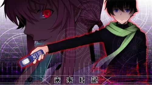 10. rosario+vampire 9. Madoka magica 8. The pet girl of sakurasou 7. melancholy of haruhi suzumiya 6. inuxboku ss 5. bleach 4. kaichou wa maid sama 3. fairy tail 2. Higurashi no naku koro ni 1. MIRAI NIKKI!!!!!!!!!!! (pic)