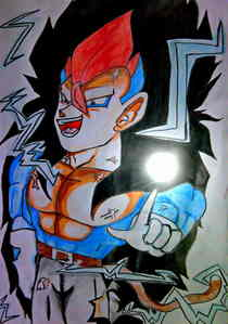 I have made Majin Goku,Vegeta Super Saiyan 15,a powerful angry Super Saiyan (I couldn't find a good name for him) and Vegeta Super Saiyan 3...I have made their drawings...You can find them on this 팬 club>fanart. Here's the drawing of Vegeta Super Saiyan 3...