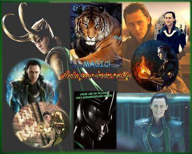 Hehehe Yes, I'm a Loki fan~! I made the वॉलपेपर myself
