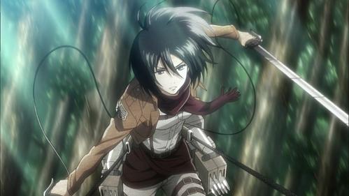Female: Mikasa (Attack on Titan) Male: Sasuke (Naruto)