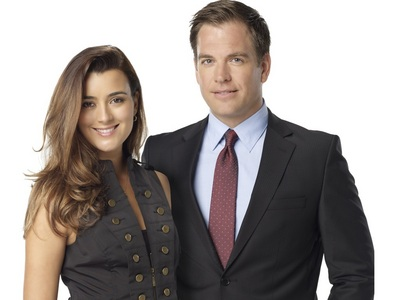 Michael Weatherly with his co-star Cote de Pablo