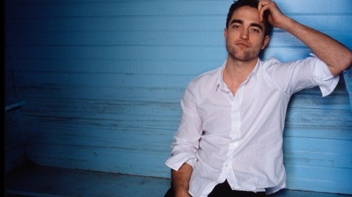 my handsome Robert in a white shirt<3