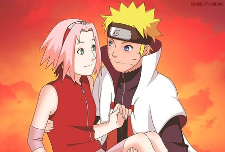 I agree with you when you said naruto's mom said get a girl like her, that's when I realized that he may end up with Sakura after all.........I am a NaruSaku fan but I don't hate NaruHina either......XD
