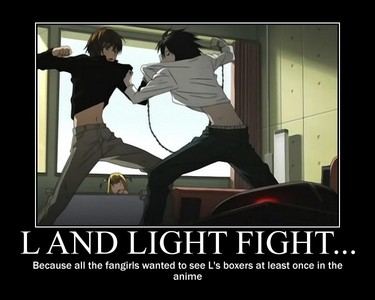 I choose L over Light. Light is actually pretty badass, but L has a higher I.Q. (yeah, this is my reason)