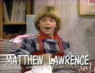 Matthew at age 6 in the 80's show, Gimme a Break. :)