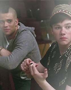Puck and Kurt from Glee. I use it on a couple of other sites as well.
