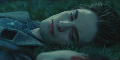 my sexy Robert lying down on the трава in a scene from Twilight<3