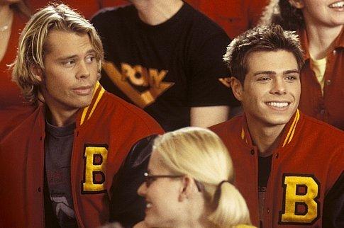 Matthew sitting with Eric Christian Olsen. :)