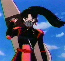 Sango the demon slayer with the hiraikotzu! (Inuyasha)