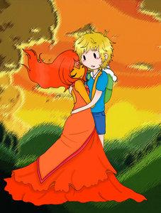 Finname FinnXFlame Princess. :D Fionname FionnaXFlame Prince :3 或者 maybe even... Finnonna FinnXfionna XD