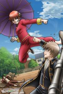 Sougo and Kagura A dynamic duo that destroys everything in their way (when not busy fighting with each other) XD
