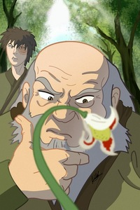 Found this on my wallpaper app. Makes me Laugh every time! Zuko: anda didn't...... Iroh: I did..........