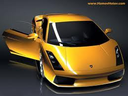 a yellow oder blue lamborghini with blue neon lights and rims and with extra cool stuff in it like a tv! XD