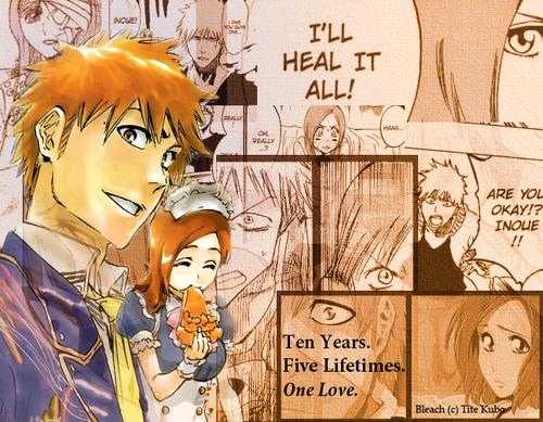 Ichigo and Orihime Orihime has aready berkata that she loves him and Rukia has not and will never be in Cinta with Ichigo. IchiRuki peminat-peminat ship Ichigo and Rukia thinking this twilight. NO ICHIRUKI peminat-peminat THIS IS BLEACH!