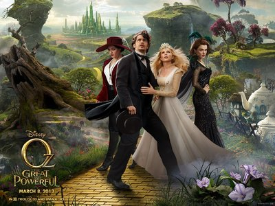 "The latest movie I watched was ""Oz The Great and Powerful"" :)"