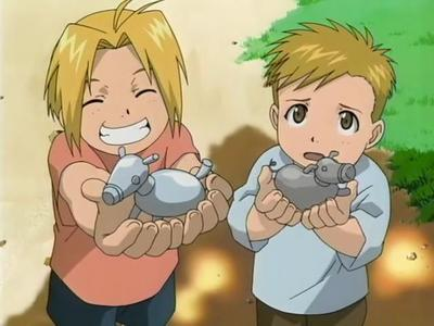 Fullmetal Alchemist. The two main characters in it are brothers.