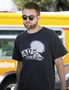 my sexy British sweetheart wearing a cool Bad Religion t-shirt<3