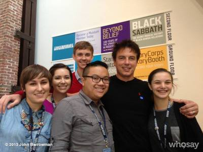John Barrowman with fans<3