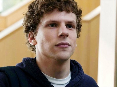 Jesse Eisenberg,from Now toi See Me and The Social Network with curly hair