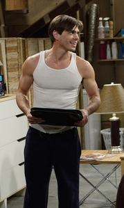 Matt with his muscular arms showing. :)