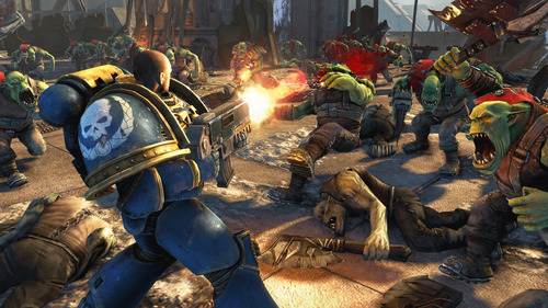 Warhammer 40K: Space Marine It's a video game.