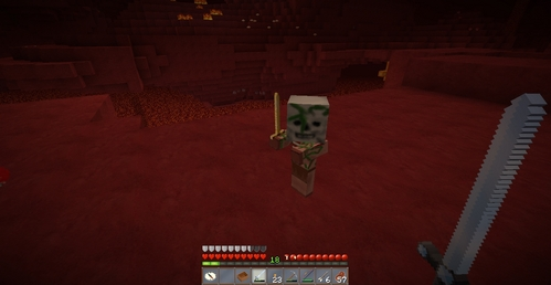 Baby Zombie Pigman from Minecraft =3
