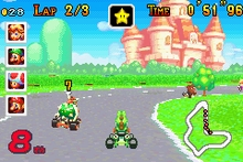 probably Mario kart: Super Circut(for the Game Boy Advance). It was the first Mario game that I owned, but I'm pretty sure I ロスト it now.