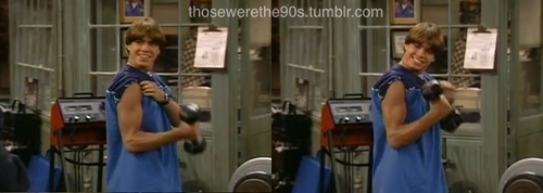 Matthew working out. <333