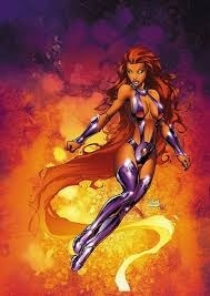 I bet it was this picture and starfire was like;WTF?!?!?!?! XD