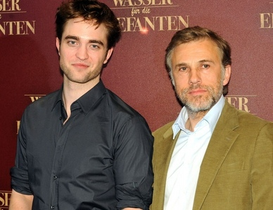 my sexy Robert with his WFE co-star,Christoph Waltz<3