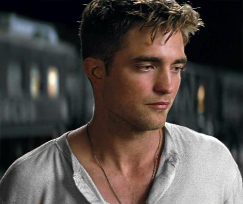 my gorgeous Robert in a white shirt<3