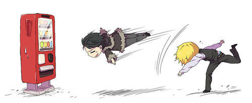 Can't have fighting without Izaya and Shizuo from DRRR. :)