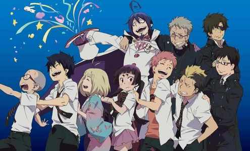 What about Ao no Exorcist.. It has demons,exorcists and demons. Its like D.Gray-man because theres exorcists :3