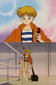 I don't expect to see many girls on this, so here's Sailor Moon's own Usagi as a male photographer. = )