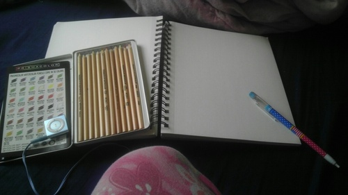 A storage unite and a life time supplies of drawing pads....