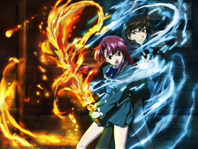 Kaze no Stigma is a good Action, and Romance, also trouble between family (MY oben, nach oben PICK)Fullmetal Alchemist Brotherhood is awesome and has romance in it :) Soul Eater (Not really Romance) Death Note is FREAKING AWESOME