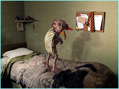 Have あなた ever seen a house-elf jumping on a bed? I have.