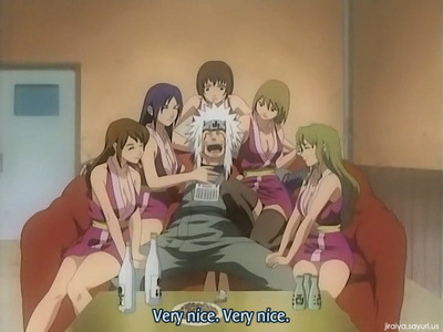 This picture isn't quite it. Usually he's spying on the women but it was the best I could find. Anyone who knows Jiraiya know what I mean. :)